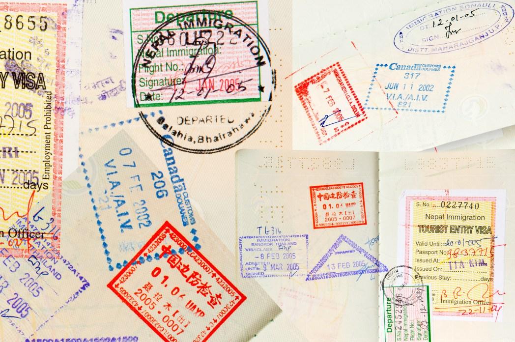 여권 속지