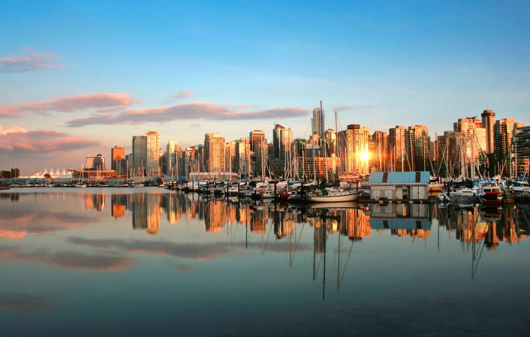 아름다운 밴쿠버의 전경