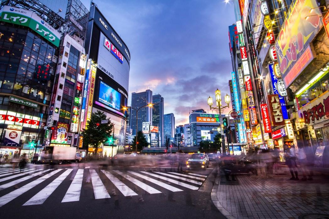 도쿄의 번화가