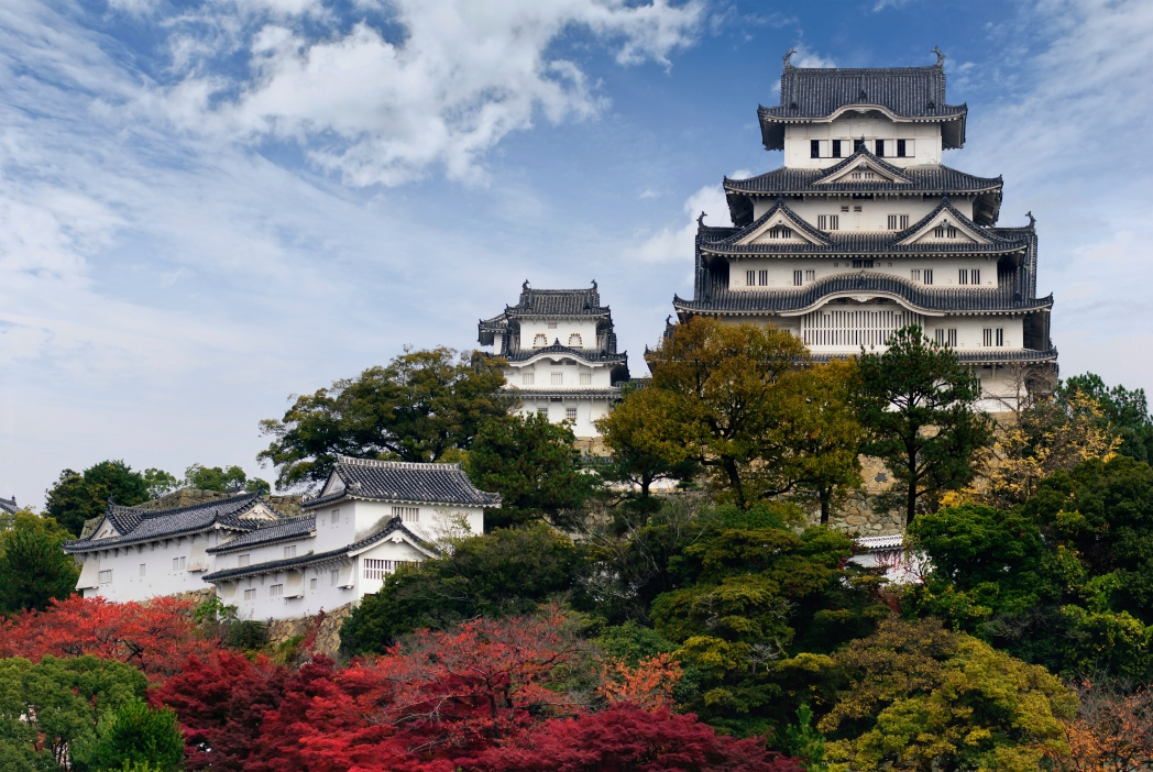 오사카성의 아름다운 풍경